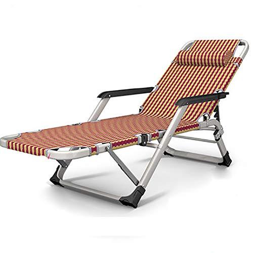 デッキチェア- 折りたたみ椅子 - 秋と冬のリクライニングチェア折りたたみ昼休みシエスタベッド多機能家庭用怠惰なビーチオフィス大人のポータブルチェア (Color : O) B07SZD4L2Y O