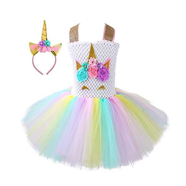 Unicorn Tutu Dress, Unicorn Birthday Outfit, Unicorn Headband, Birthday Dress 4