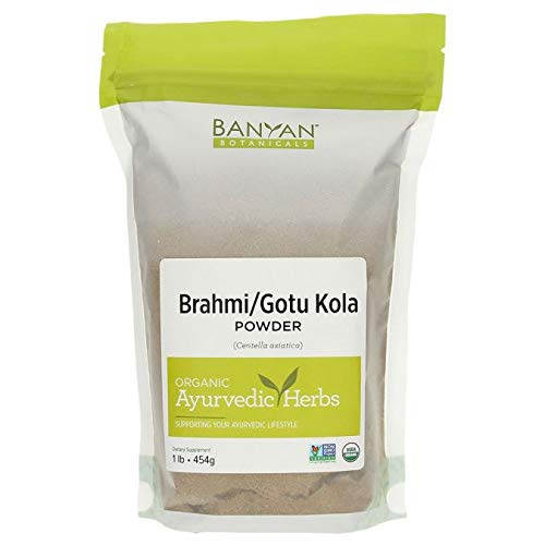 Banyan Botanicals Brahmi/Gotu Kola Powder, 1 Pound - USDA Organic - Centella asiatica - Ayurvedic Herb for the Brain & Nervous System