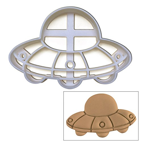 [UFO Cookie cutter, 1 pc, Perfect for spooky Halloween parties] (Sci Fi Halloween)