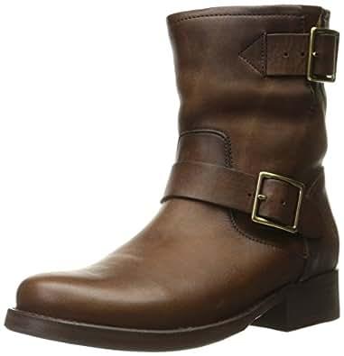 FRYE Women's Vicky Engineer Boot, Dark Brown, 6 M US