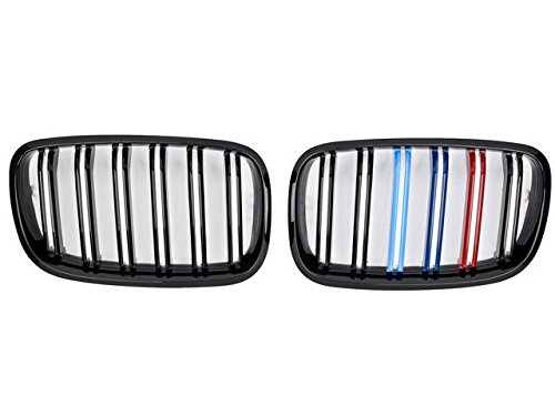 Tri Colour FS857003 FOR MODELS UNTIL 2007 TO 2013 CKS Kidney Grill Grille Grills Gloss Black Twin Tri Colour Black