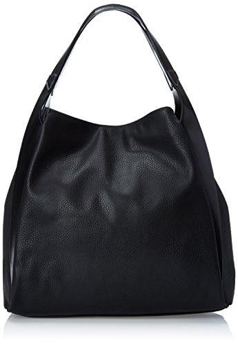 (POVERTY FLATS by rian Aero Shoulder Bag, Black/Black, One Size)
