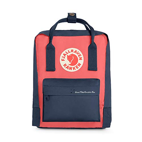 Fjallraven - Save the Arctic Fox Mini Kanken Backpack for Everyday, Royal Blue/Peach Pink
