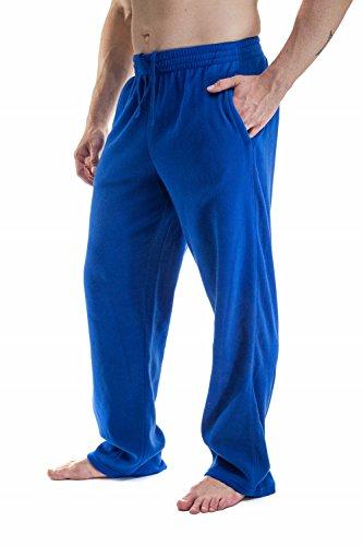 Men's Plush Polar Fleece sweatpants With Pockets, Royal L