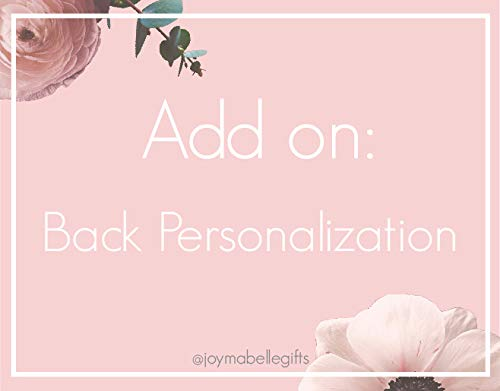 Back Personalization Add On