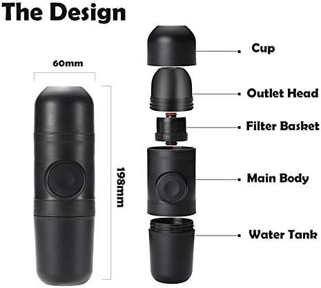 Draagbare koffiezetapparaat handheld Amerikaanse capsule koffie reiskop draagbare mini,B