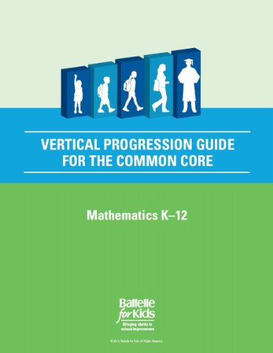 Vertical Progression Guide for the Common Core, Mathematics K-12: a Teacher Planning Tool That Helps You Align Your Students' Success with Their Progression From Kindergarten to College and Career Readiness (Algebra Readiness Standards)