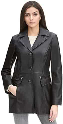 66c123961676d Wilsons Leather Womens Button Front Lamb Jacket W Zipper Detail Pockets
