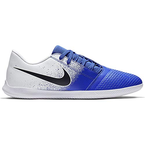 Nike Men's Phantom Venom Club Indoor Soccer Shoe White/Black/Racer Blue Size 12 M US (Nike Black And White Indoor Soccer Shoes)