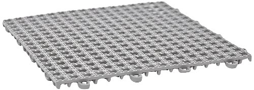 DuraGrid Non-Slip 12'' x 12'' Interlocking Tiles, Pack of 12 Gray by DuraGrid®