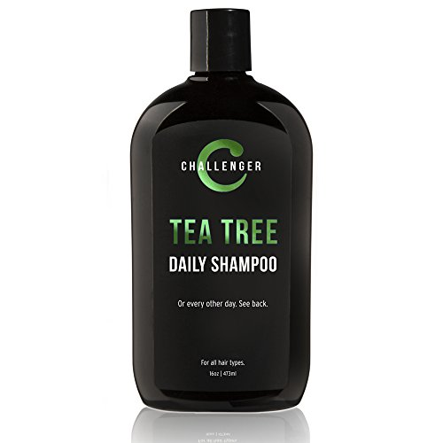 Challenger Tea Tree Shampoo - 16oz Sulfate Free w/Vitamins, Argan Oil, Biotin - For Men & Women - Keratin, Vitamin C, Vitamin D, Protein, No Artificial Colors (2-3 Month Supply)
