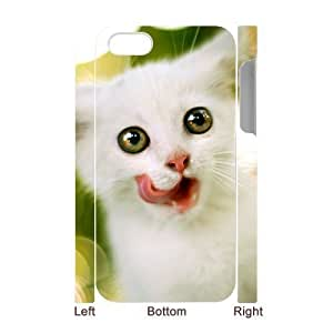 3D Bumper Plastic Case Of Cute Cat customized case For Iphone 4/4s