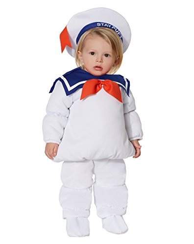 Stay Puft Marshmallow Infant Costume (Spirit Halloween Baby Belly Stay Puft Marshmallow Costume – Ghostbusters)