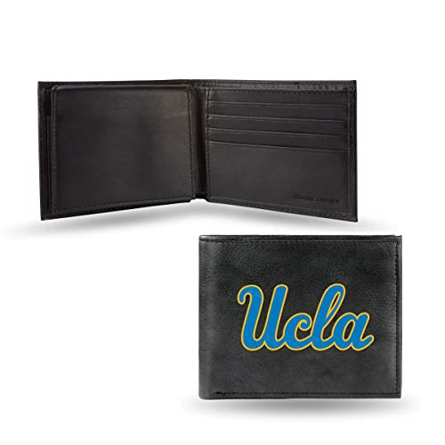 Rico UCLA Bruins NCAA Embroidered Team Logo Black Leather Bi-fold Wallet