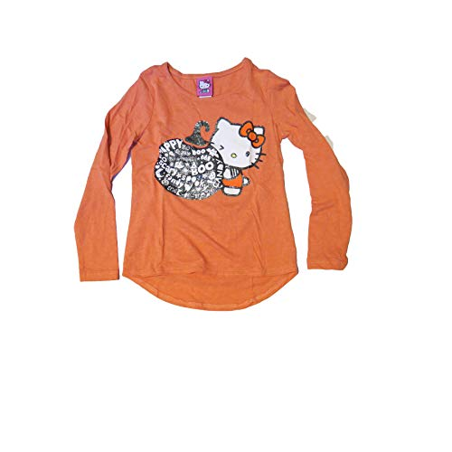 Hello Kitty Pumpkin Halloween Long Sleeve T-Shirt Girls Medium 7/8