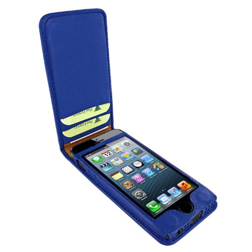 Piel Frama Ledertasche Classic Magnetic RACE Edition Blau/Rot für Apple iPhone 5 / 5S