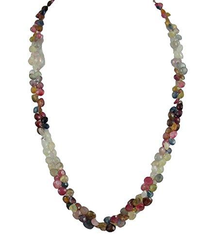 D&D Natural Super Fine Tourmaline drop shape 1 line adjustable necklace with silver hook by D&D (Image #3)