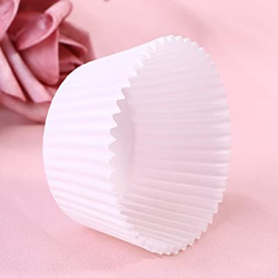 100 Pcs Paper Baking Cups Cupcake Wrappers Liners Muffin Cases Cake Cup Party Favors (White): Arts, Crafts & Sewing