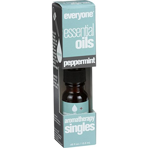 EO Products Everyone Aromatherapy Singles - Essential Oil - Peppermint - Little Bottle of Happy Thoughts - .5 oz (Pack of 2) ()