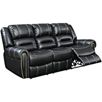HOMES: Inside + Out IDF-6130-SF-PM Jack Reclining Sofa