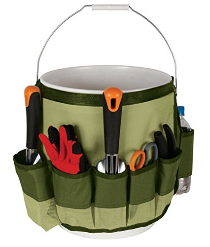 SYOOY Garden Bucket Caddy Yard Tool Carrier Holder Organizer with 10 ()
