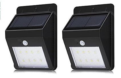 Luce solare con sensore di movimento 8 led lampada wireless ad
