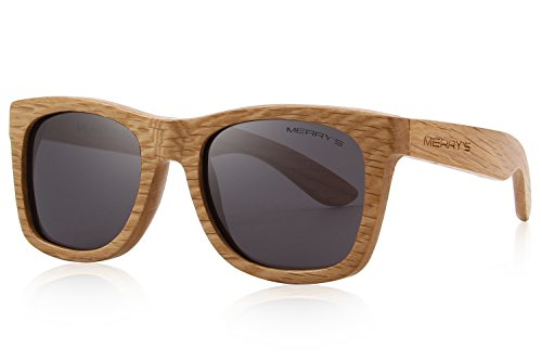 MERRY'S Men Wooden Polarized Sunglasses 100% UV Protection vintage Eyewear S5140
