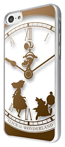 459 - Vintage Clock Alice in Wonderland Design iphone 5C Coque Fashion Trend Case Coque Protection Cover plastique et métal