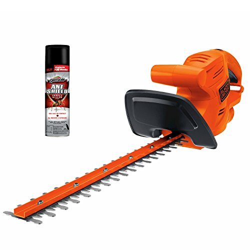 Black & Decker Lightweight 17-Inch, 3.2 AMP Motor Electric Hedge Trimmer with Ant Killer Spray