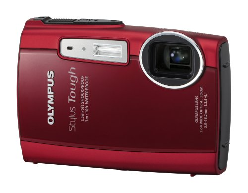 Olympus Stylus Tough 3000 12 MP Digital Camera with 3.6x Wide Angle Zoom and 2.7-inch LCD (Red) (Old Model) by Olympus (Image #2)