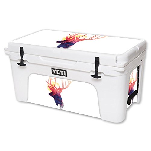 MightySkins Skin For YETI 65 qt Cooler - Burning Sun | Protective, Durable, and Unique Vinyl Decal wrap cover | Easy To Apply, Remove, and Change Styles | Made in the USA by MightySkins
