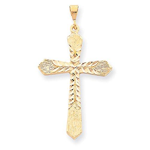 Breloque croix 10 k or de haute qualité Or 9 Carats JewelryWeb