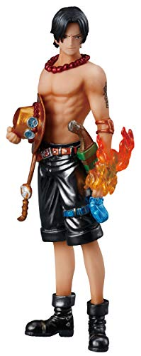 """Shokugan One Piece 5.1"""" Portgas-D-Ace Flame of The Revolution Figure, Valiant Material Series"""
