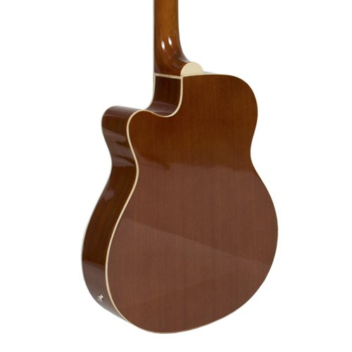 Electric Acoustic Bass Guitar Natural Solid Wood Construction With Equalizer New - Image 3