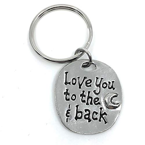 Love You to The Moon and Back Lead Free Pewter Key Ring Charm Gift Box ()