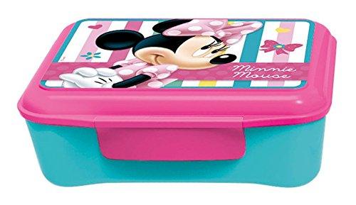 p:os 24472 - Brotdose Disney Minnie Mouse mit Einsatz, 17 x 13.5 x 5.5 cm
