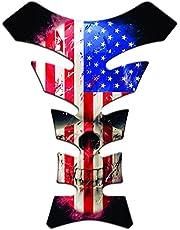 Protetor De Tanque Universal Caveira Bandeira Estados Unidos Tank Pad Adesivo Resinado