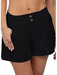 Cotton Natural Women's Embroidered Shorts