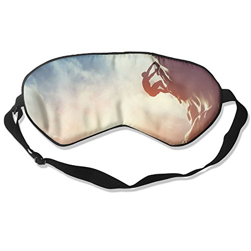 ZhiqianDF A Silhouette Of Man Climbing On Rock Mountain At Sunset Adrenaline Strenght Ambition Goggles Sleep Shading Breathable Cute Eyes Relieve Eye - Goggles Mercury