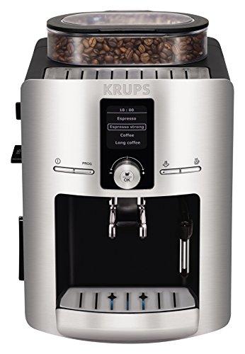 Krups EA826E52 Cafetera Espresso Full Automática, Digital y Programable, Color Gris Plata
