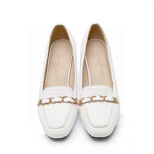 Charme Voet Dames Mode Stevige Hak Dagelijkse Werkschoenen Wit