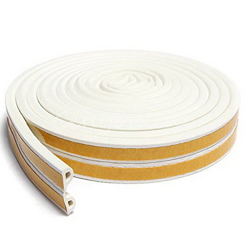 Close Foil Super Flex - New Heavy-Duty Self Adhesive EPDM Rubber Weatherstrip Seal Doors and Windows (white, P type)
