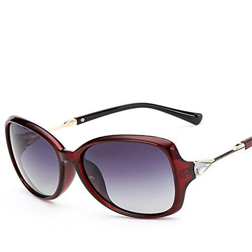 Chahua Haut brillant élégant lunettes de soleil, lunettes de soleil miroir de conduite européens et américains dans la grande case de la tendance des lunettes de soleil,