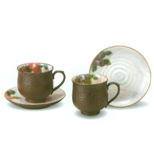 JAPANESE Kutani PotteryPair camelliaⅦ coffee K4-1037 Made in Japan ... by Kutani