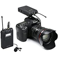Movo Wireless 48-Channel UHF Lavalier Microphone System for Canon EOS 1D-X MK I&II, 5D MK I, II, III, 5DS R, 6D, 7D MK I+II, 60D, 70D, Digital Rebel T6S, T6i, T5i, T4i, T3i, T2i DSLR Cameras Advantages Review Image