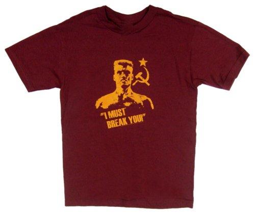 American Classics Men's Rocky I Must Break You T-Shirt,Wine,Small -