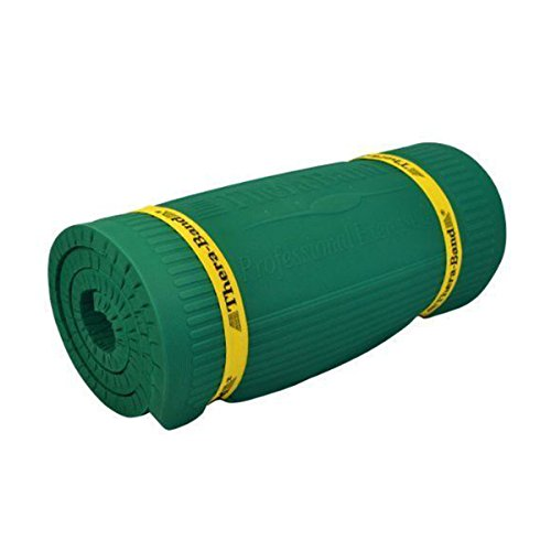 TheraBand Exercise Mat, High Density Professional Floor Mat, Extra Thick, Heavy Duty, Maximum Comfort Waterproof & Washable Mat for Yoga or Rehab, 75 Inch Long, 2 Foot Wide X .6 Inch Thick, Green For Sale