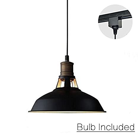 1e617678b1c ANYE Track Pendant Light H-type 3 Wire 4.9 Feet Cord Retro Style Industrial  Factory Pendant Lamp Bulb Included PL-GDTB0196-87 - - Amazon.com