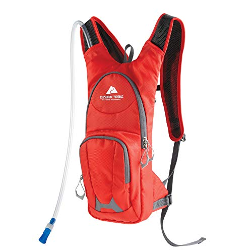 Ozark-Trail Hydration Backpack with Hydration Bladder, 5L, Red